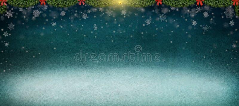 Fundo do inverno da noite. ilustração do vetor