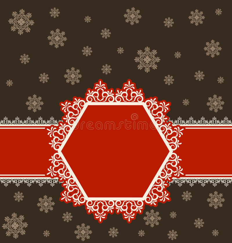 Fundo do inverno do floco de neve. ilustração royalty free