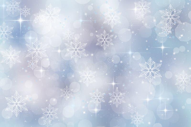 Fundo do inverno para a estação do Natal e de feriado ilustração do vetor