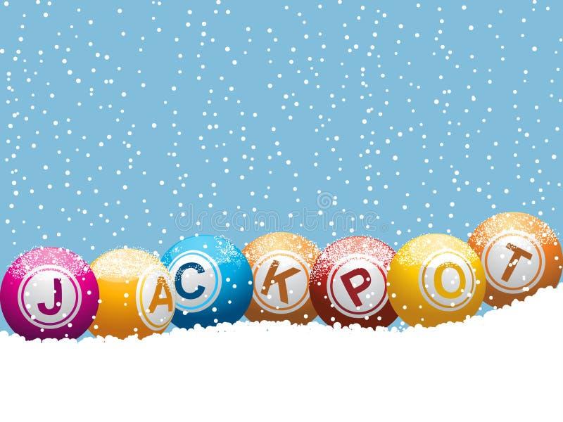 Fundo do jackpot da lotaria do bingo do Natal ilustração royalty free