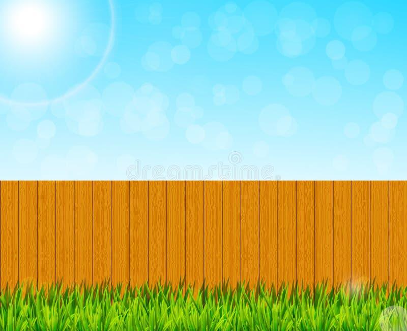 Fundo do jardim do quintal ilustração do vetor