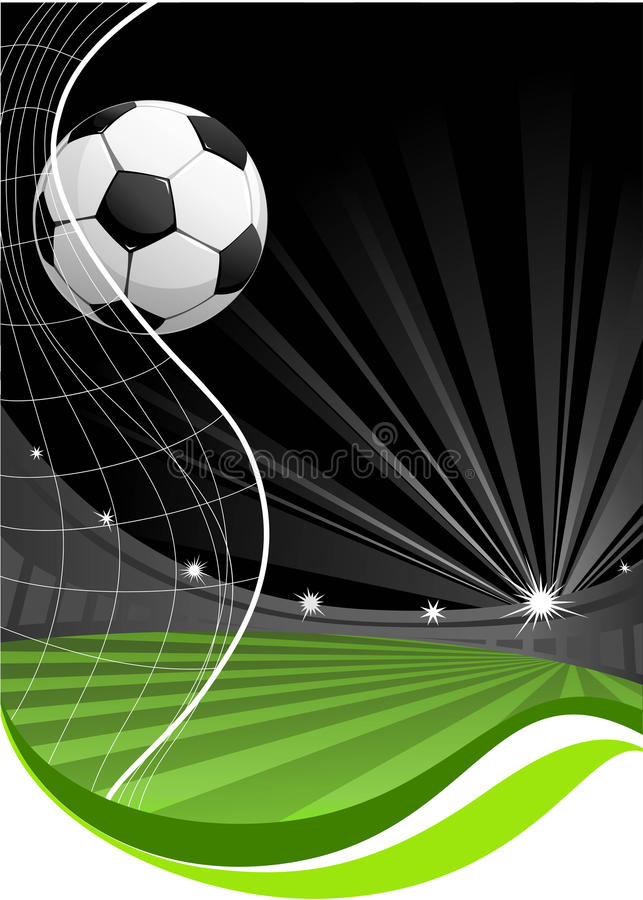 Fundo do jogo de futebol ilustração royalty free