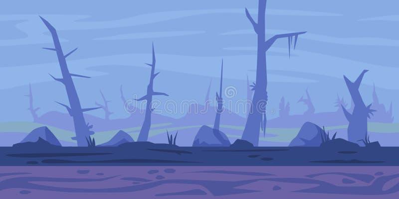 Fundo do jogo do pântano ilustração do vetor