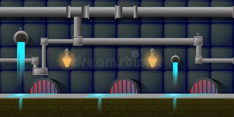 Fundo do jogo dos ativos do jogo ilustração stock