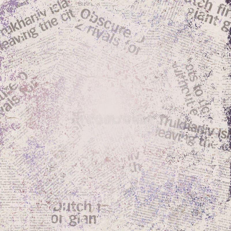 Fundo do jornal de Grunge ilustração do vetor