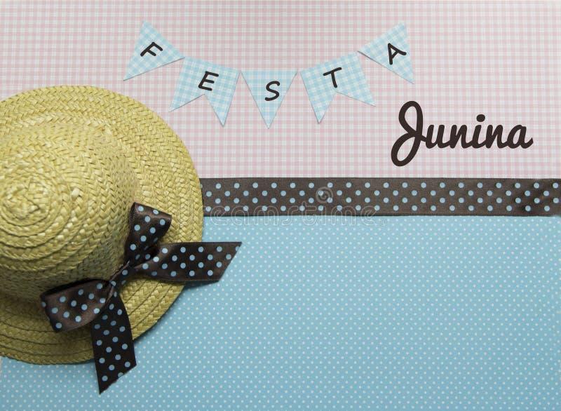 Fundo do junina de Festa fotos de stock royalty free