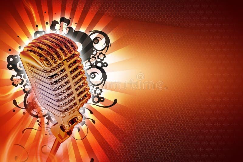Fundo do karaoke ilustração do vetor