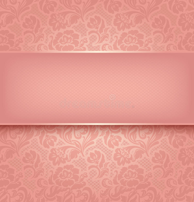 Fundo do laço, cor-de-rosa ilustração royalty free