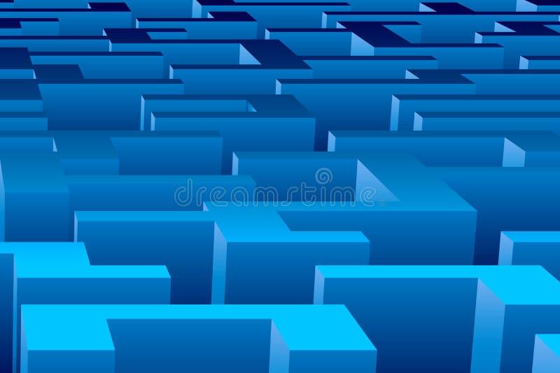 Fundo do labirinto ilustração do vetor