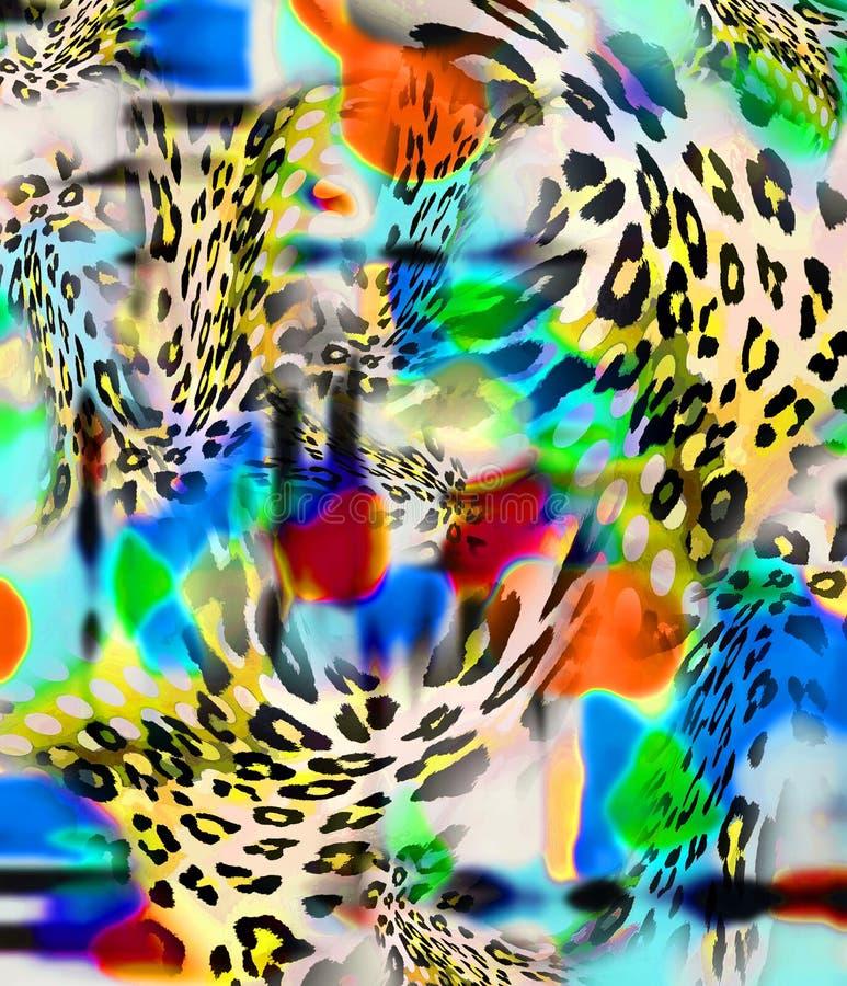 Fundo do leopardo ilustração royalty free