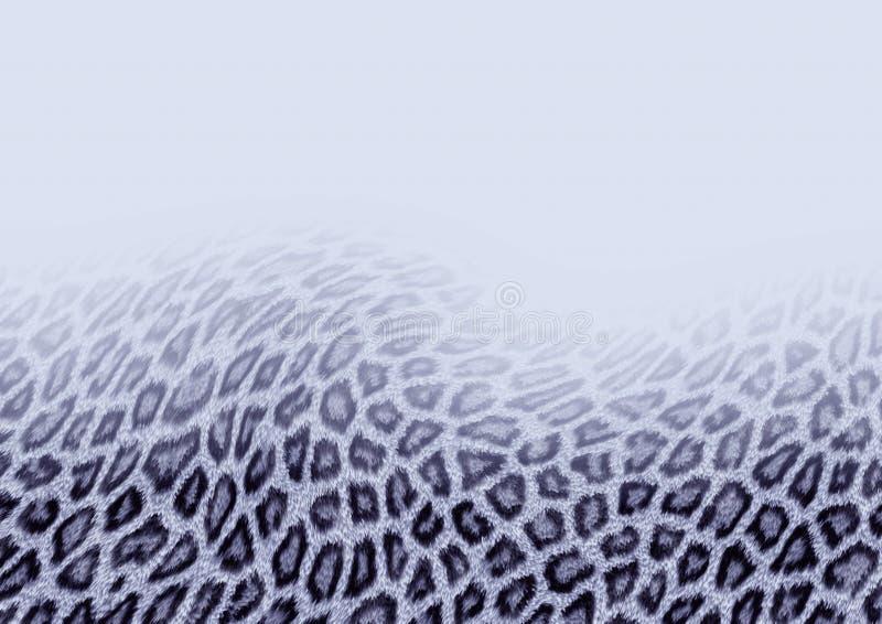 Fundo do leopardo de neve ilustração royalty free