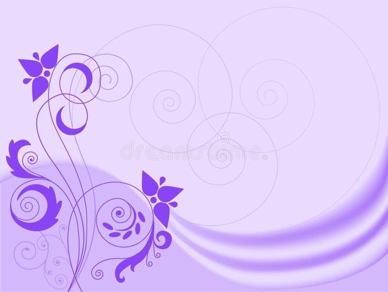 Fundo do Lilac com redemoinhos ilustração royalty free