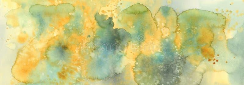 Fundo do mármore de sal da aquarela Cores da flor da mimosa ilustração royalty free