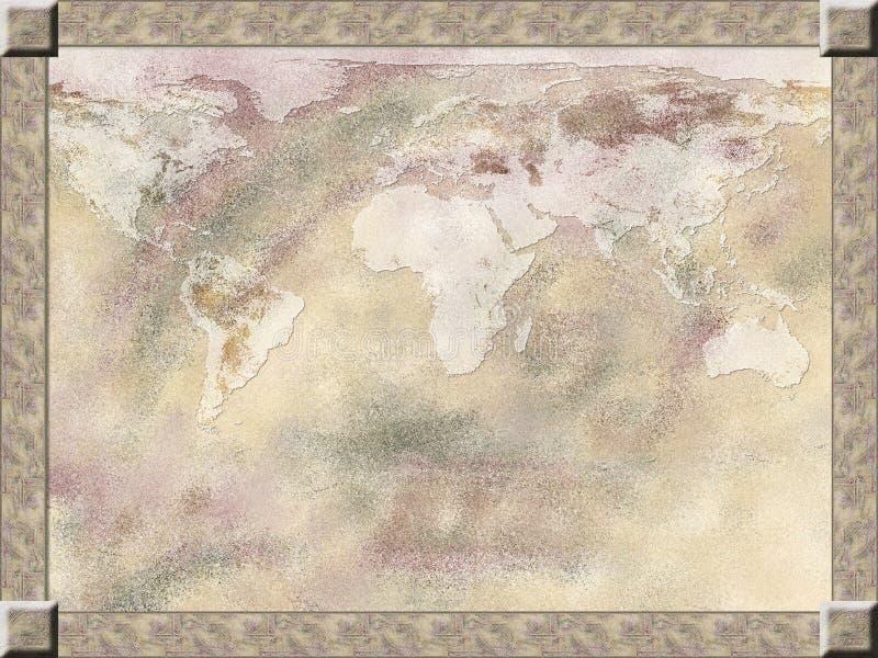 Fundo do mapa ilustração royalty free