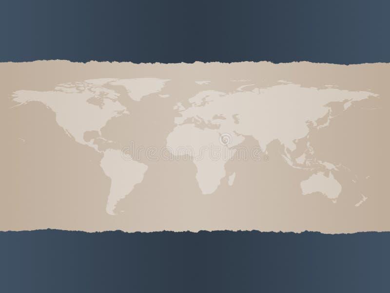 Fundo do mapa de mundo ilustração do vetor