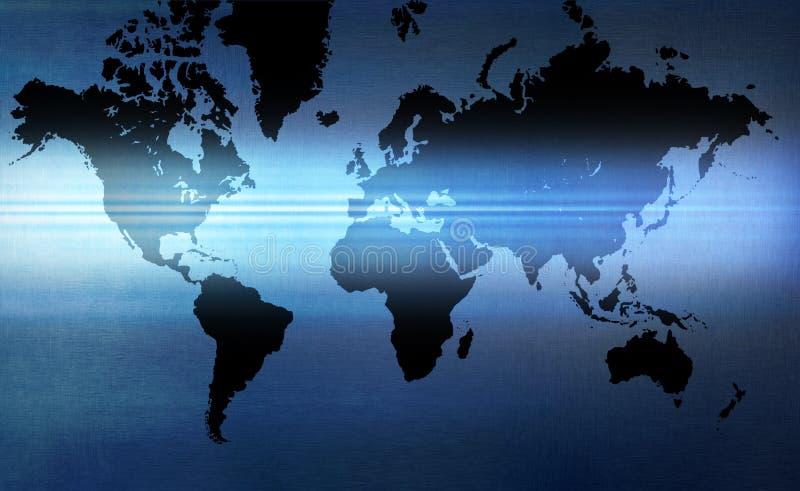 Fundo do mapa de mundo fotografia de stock