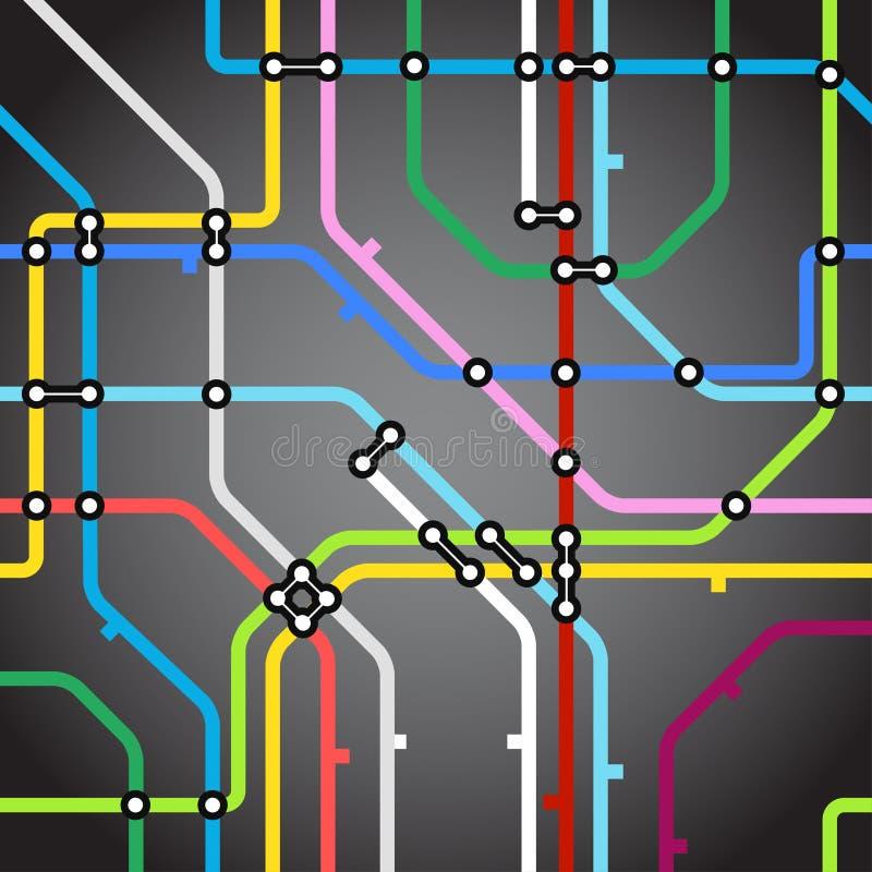 Fundo do mapa do metro ilustração stock