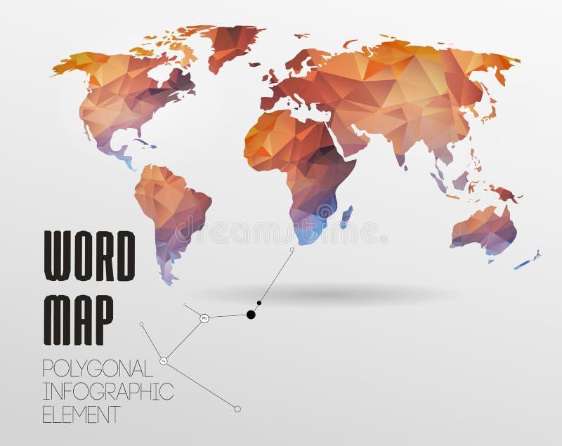 Fundo do mapa do mundo ilustração royalty free