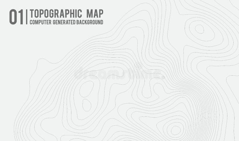 Fundo do mapa topográfico com espaço para a cópia Alinhe o fundo do contorno do mapa da topografia, sumário geográfico da grade ilustração do vetor