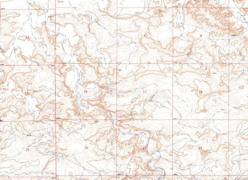 Fundo do mapa topográfico de Brown fotos de stock royalty free