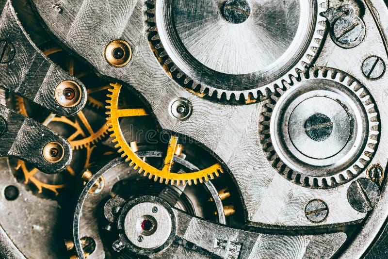 Fundo do maquinismo de relojoaria imagem de stock