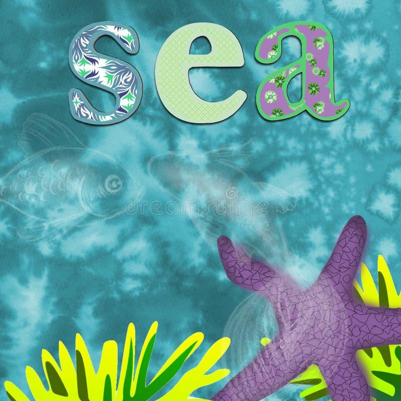 Fundo do mar para crianças ilustração royalty free