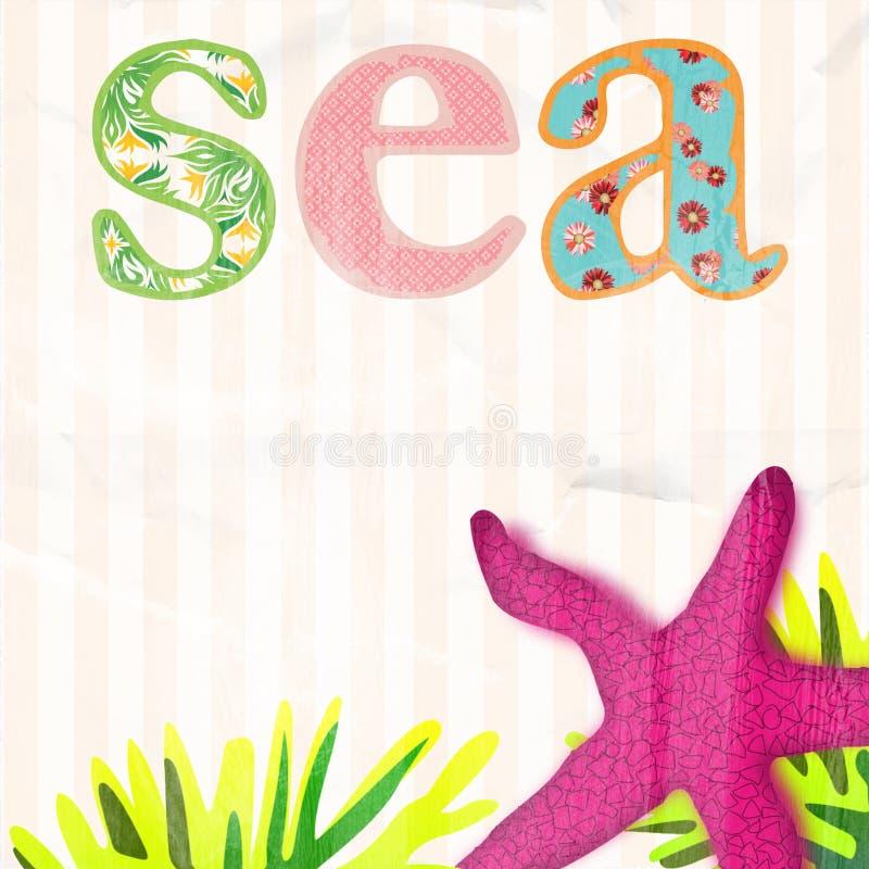 Fundo do mar para crianças foto de stock royalty free