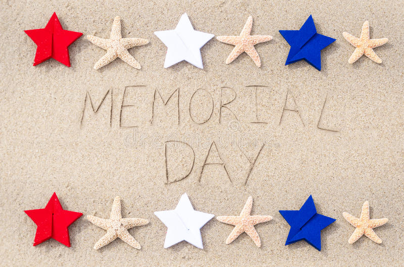 Fundo do Memorial Day fotografia de stock
