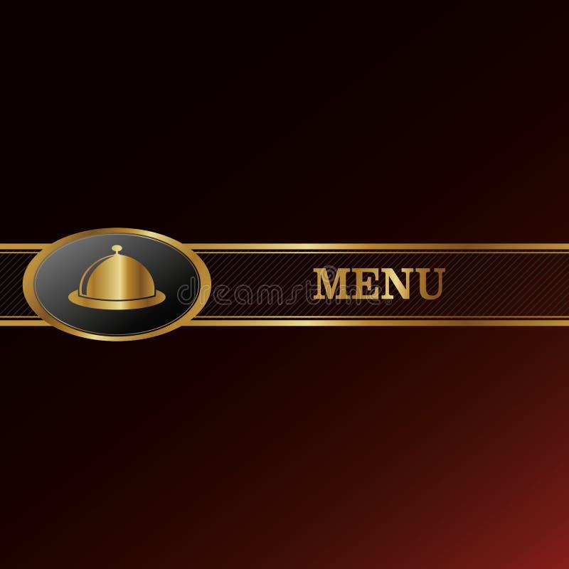 Fundo do menu ilustração royalty free