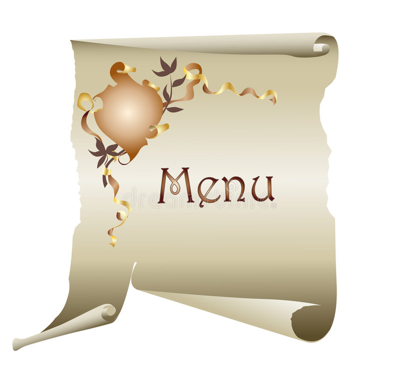 Fundo do menu do vintage ilustração stock