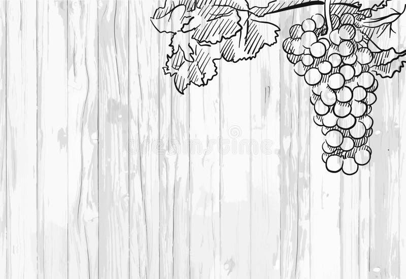 Fundo do menu do vinho ilustração stock