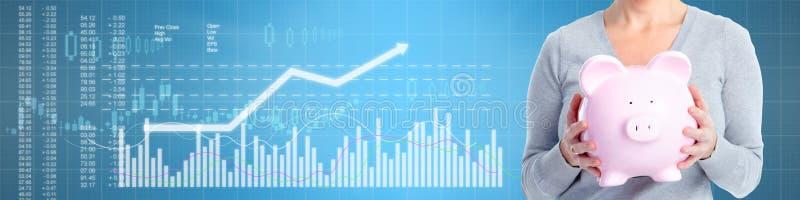 Fundo do mercado de valores de ação do negócio ilustração stock
