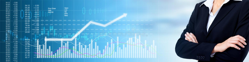 Fundo do mercado de valores de ação do negócio ilustração do vetor