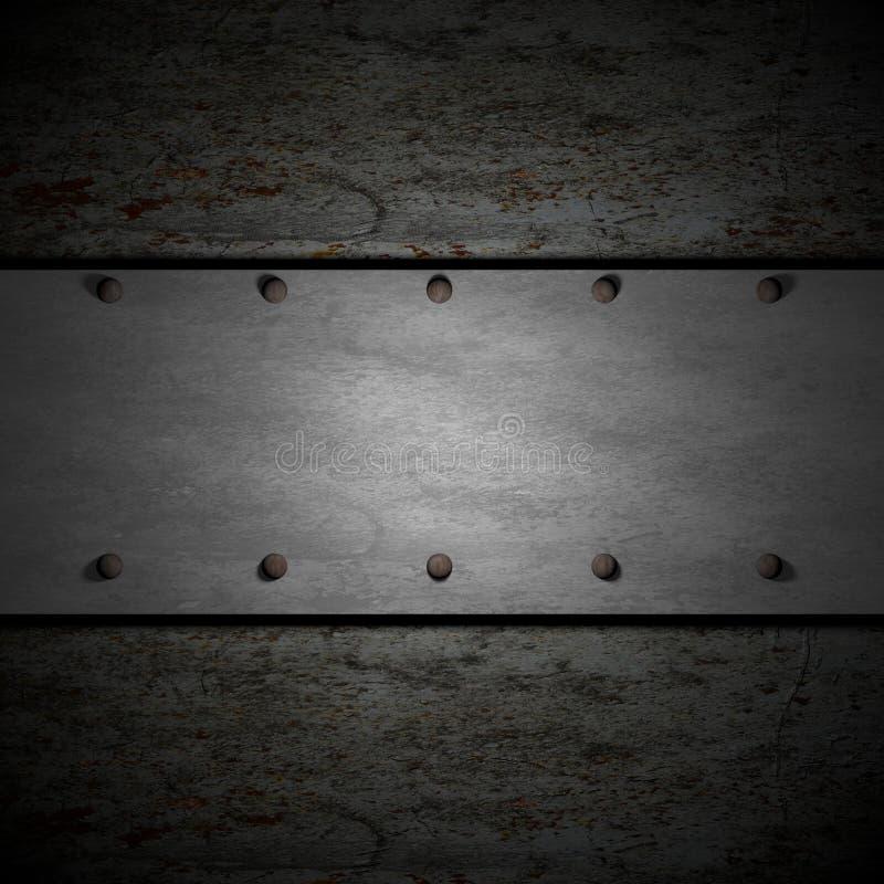 Fundo do metal ilustração stock