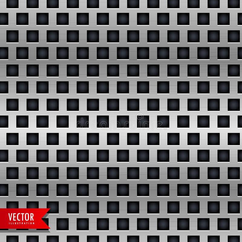 Fundo do metal com teste padrão das telhas ilustração do vetor
