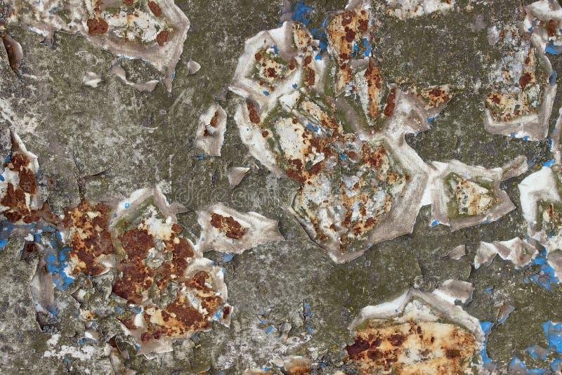 Fundo do metal da deterioração Aço da deterioração Textura velha da parede Oxidação em um fundo velho da parede imagens de stock