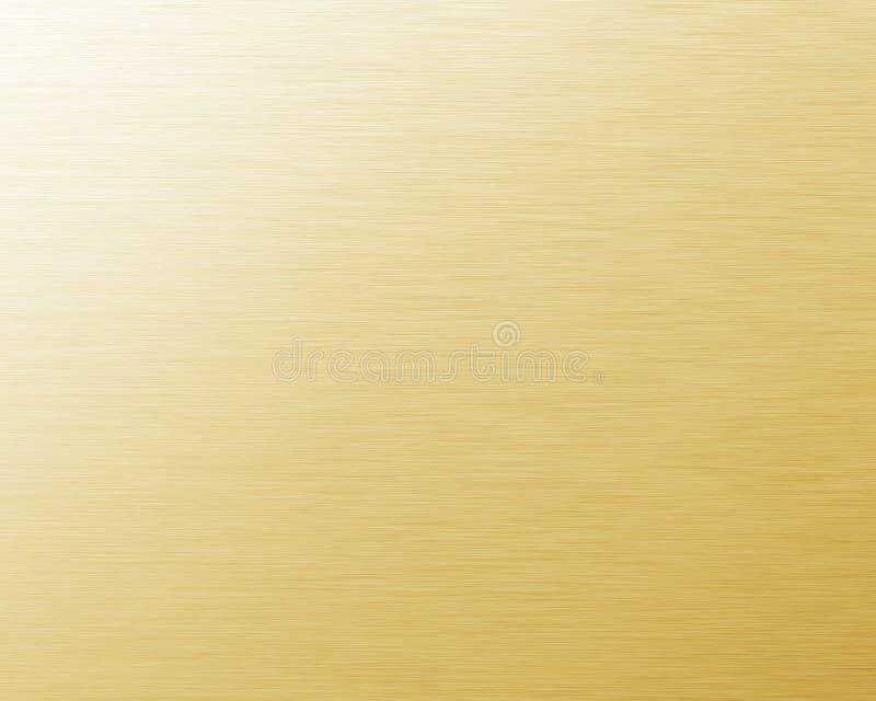 Fundo do metal do ouro ilustração royalty free