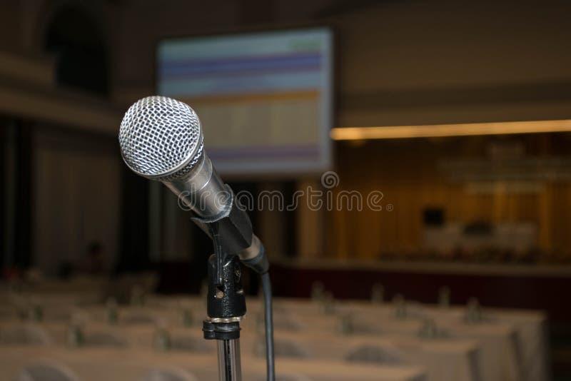 Fundo do microfone da conferência, objeto, espaço da cópia fotos de stock royalty free