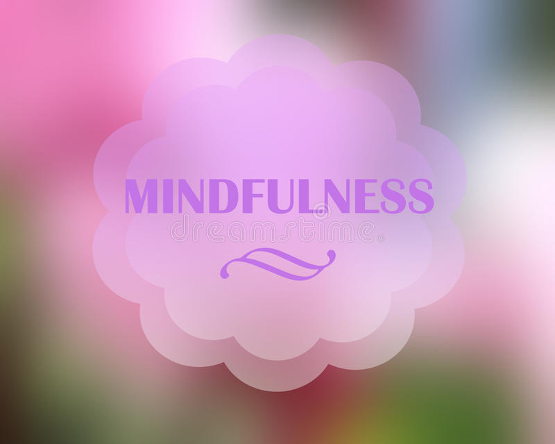 Fundo do Mindfulness foto de stock royalty free