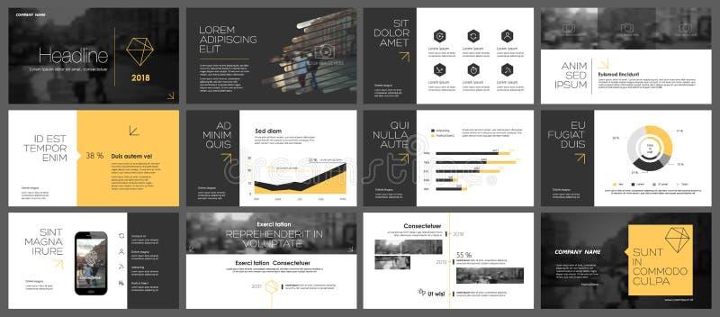 Fundo do molde da apresentação de PowerPoint ilustração royalty free