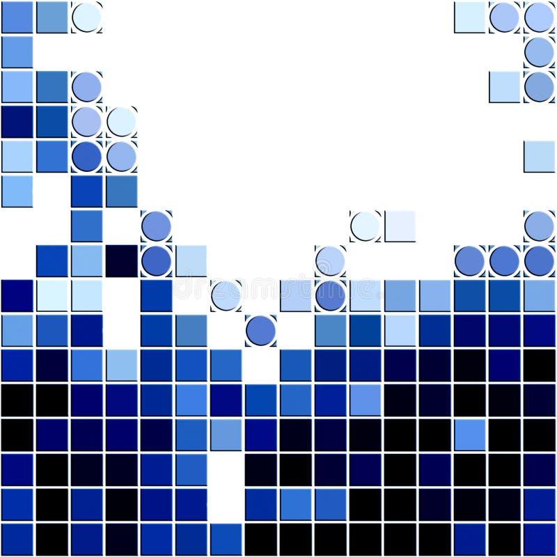 Fundo do mosaico ilustração royalty free