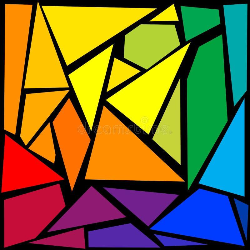 Fundo do mosaico ilustração stock
