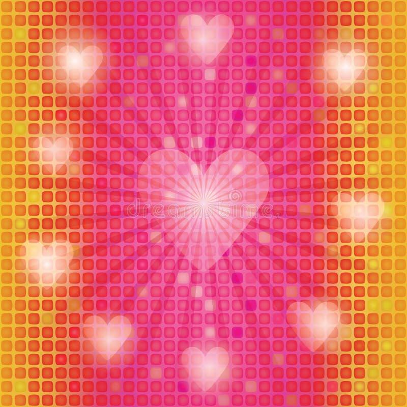 Fundo do mosaico com Valentim ilustração royalty free