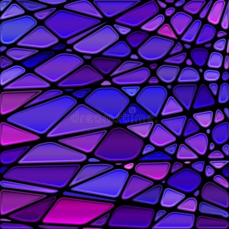 Fundo do mosaico do vidro colorido do vetor imagem de stock