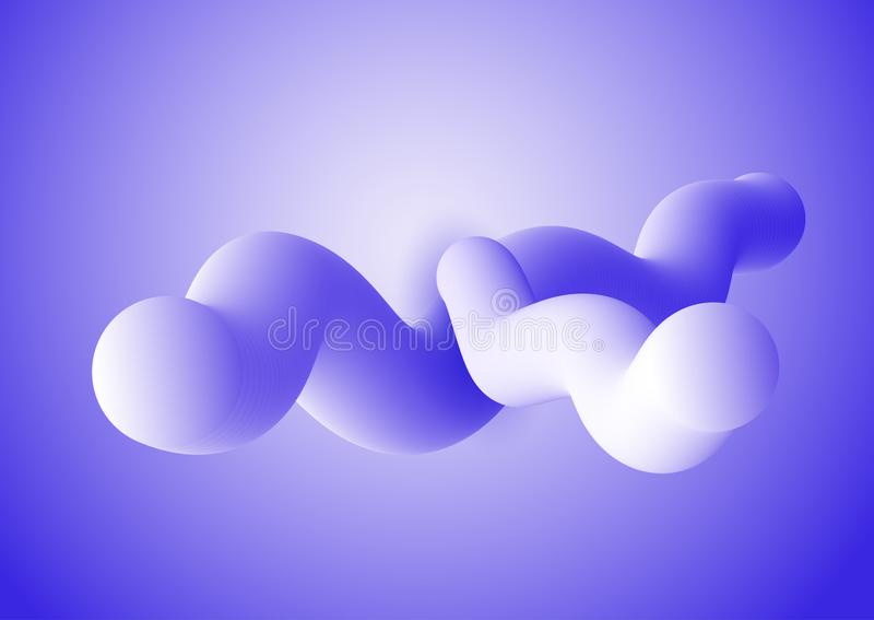 fundo do movimento 3d com formas fluidas abstratas ilustração stock