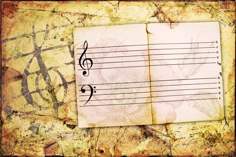 Fundo do Musical de Grunge fotografia de stock