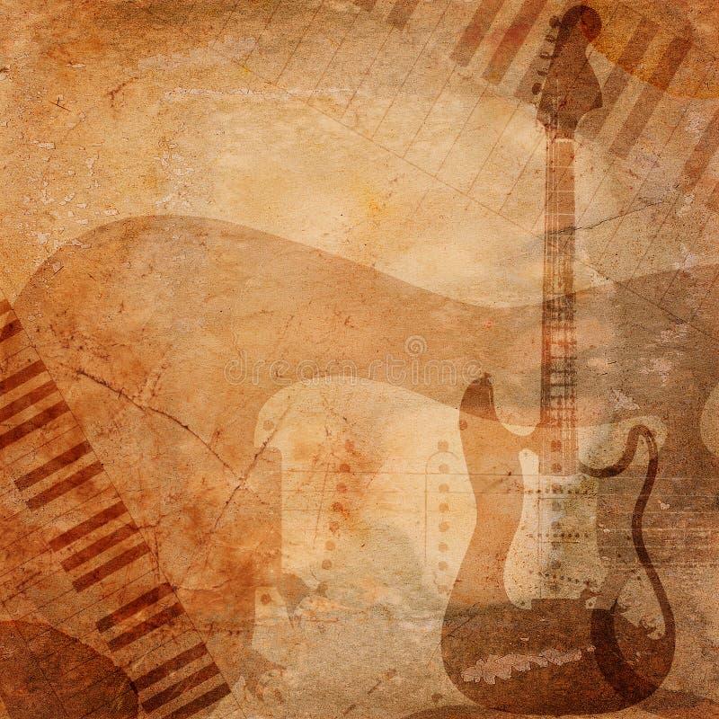 Fundo do musical de Grunge ilustração royalty free