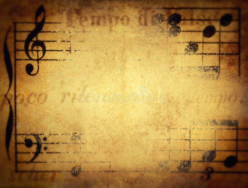Fundo do musical de Grunge Velho retro imagens de stock