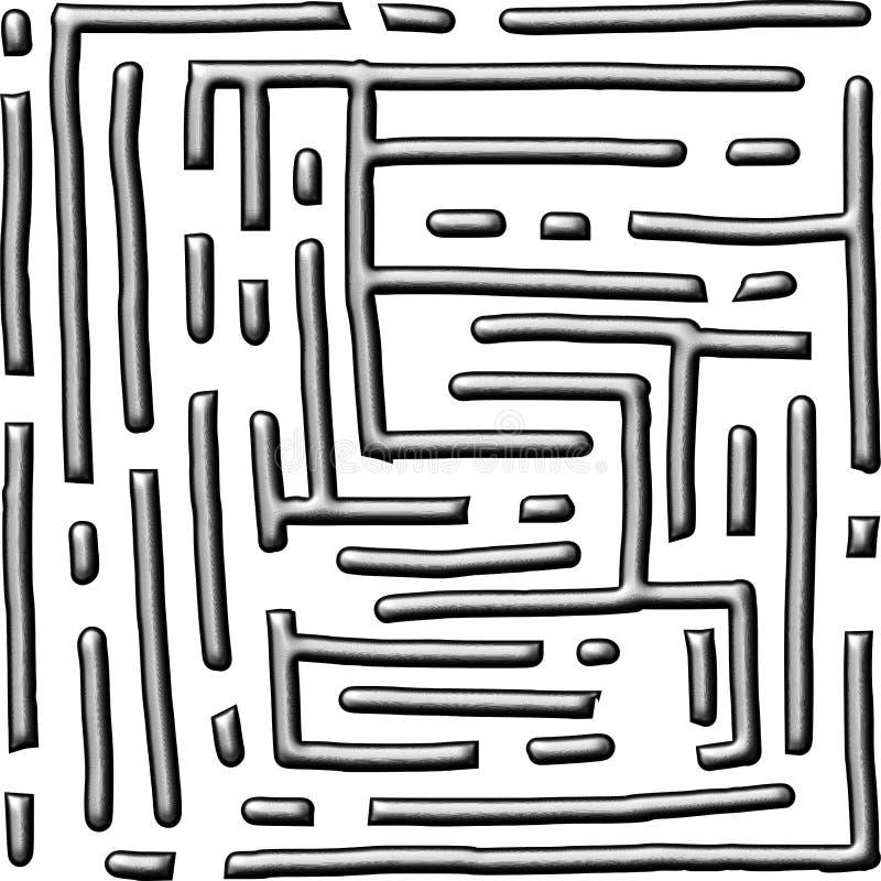 Fundo do número quatorze do estilo do labirinto metálico ilustração royalty free