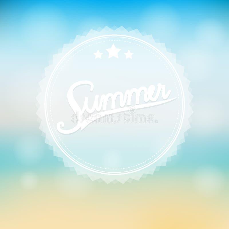 Fundo do nascer do sol do sumário do verão do mar ilustração do vetor